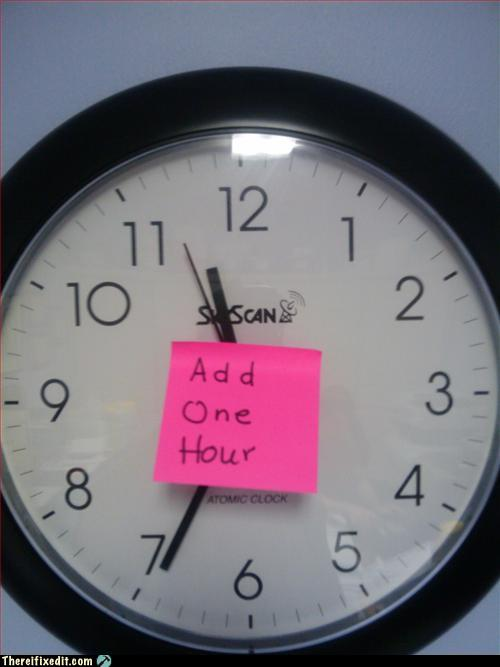 Add 1 hour