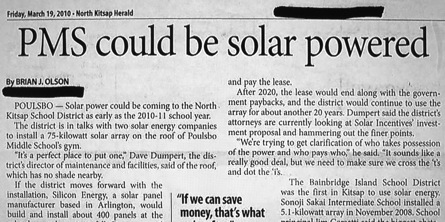 PMS solar powered