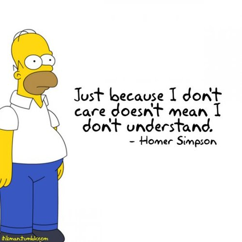 Inspirational Customer Service Quote Humor: Just Because I Don't Care….