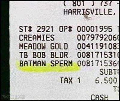 Batman sperm