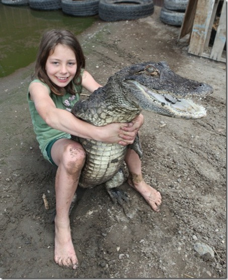 Gator and kid