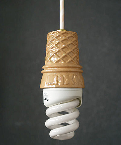 Light bulb cone