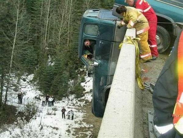 Truck fall