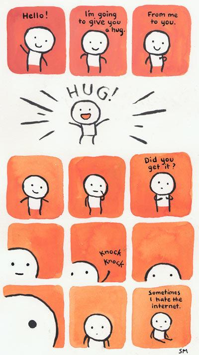 Internet hug