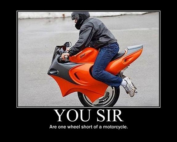 One wheel short
