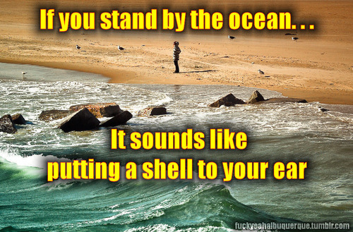 Stand by the ocean