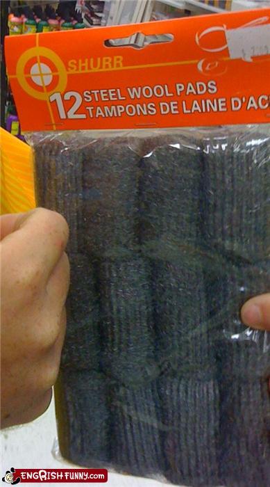 Steel wool tampons