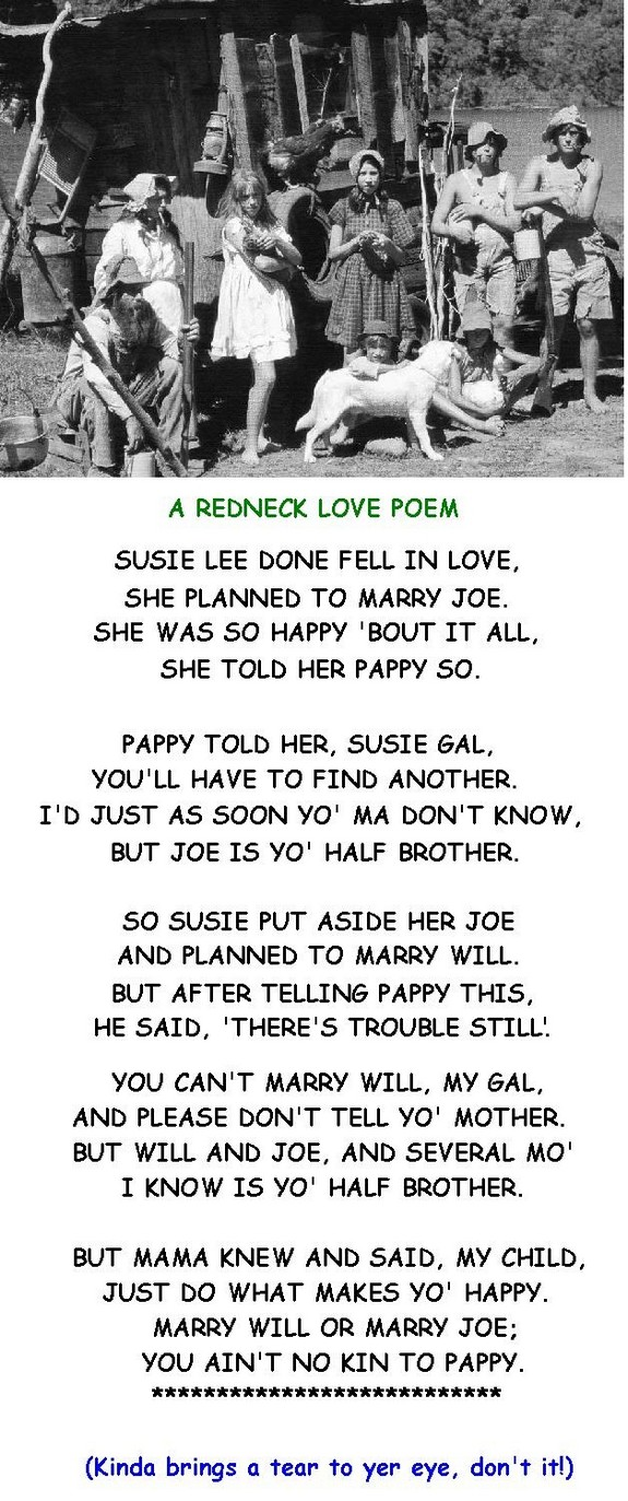 Redneck love poem - Bits and PiecesBits and Pieces