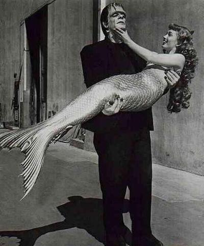 Frankenstein and mermaid