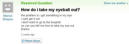 Take eye out