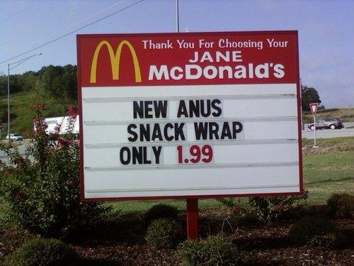 Anus snack wrap