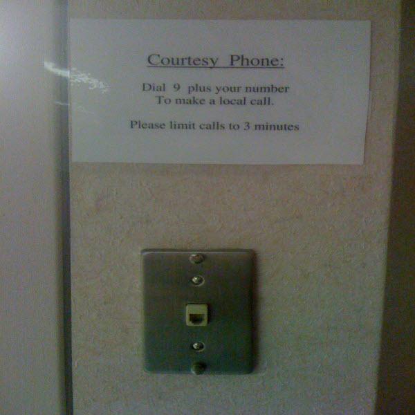 Courtest phone