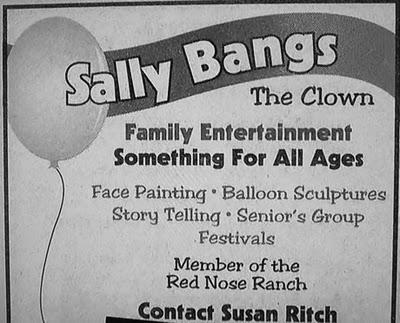 Sally bangs the clown