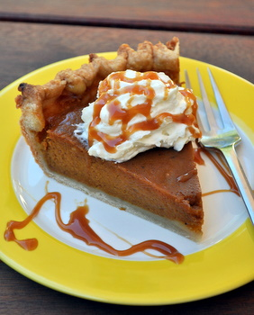 Carmel pumpkin pie