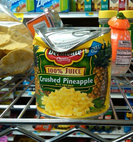 Crushed crushed pineapple