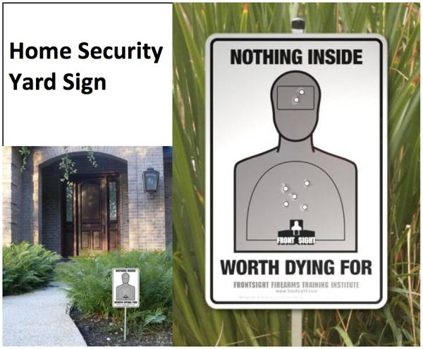 Home Security Yard Sign Bits And Pieces