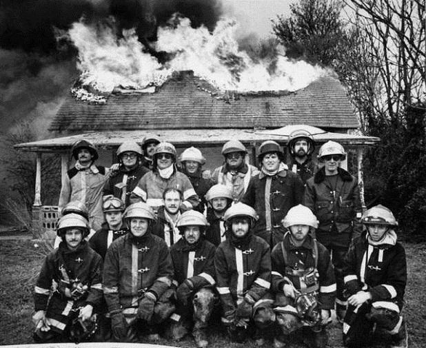 Firemen group photo
