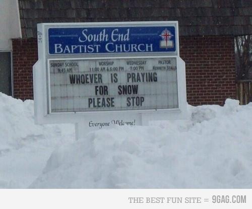 Praying for snow