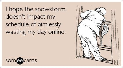 Snowstorm greeting