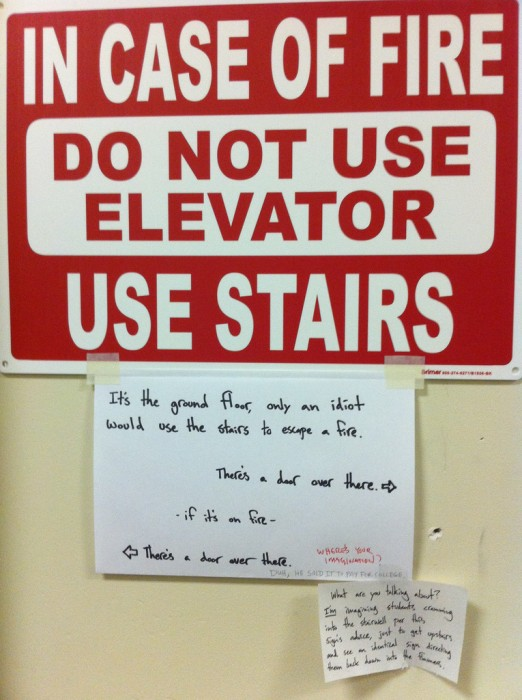 Do not use elevator