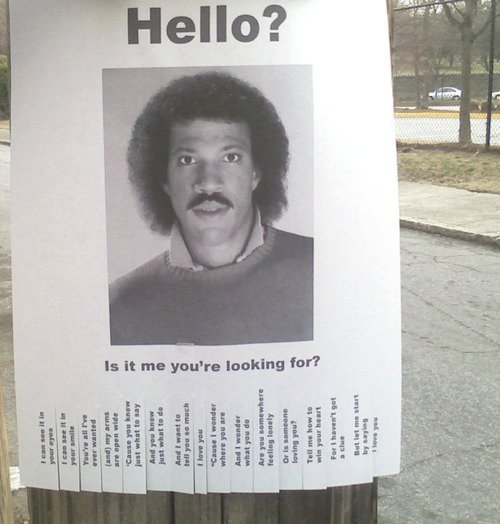 Is it me your looking for