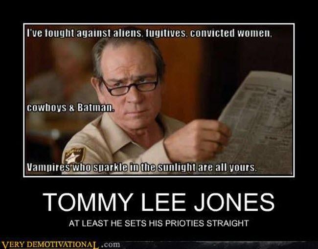 Tommy Lee Jones has priorities – Bits and Pieces | 650 x 509 jpeg 47kB