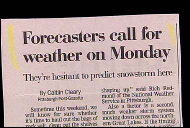 Weather on monday