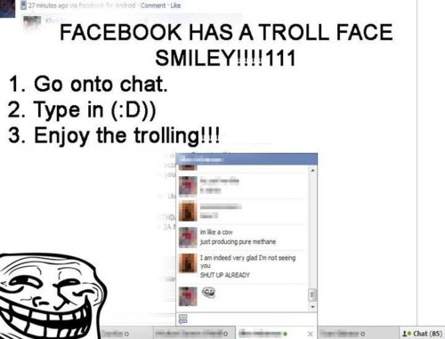 troll symbols for facebook