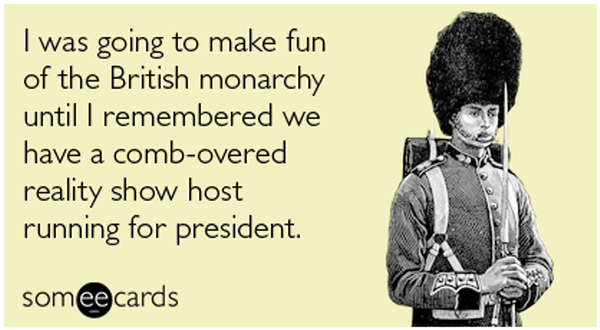 Making fun of monarchy