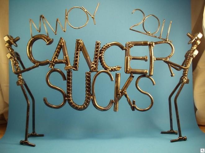 Cancer sucks sculpture