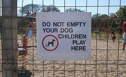 Dont empty your dog
