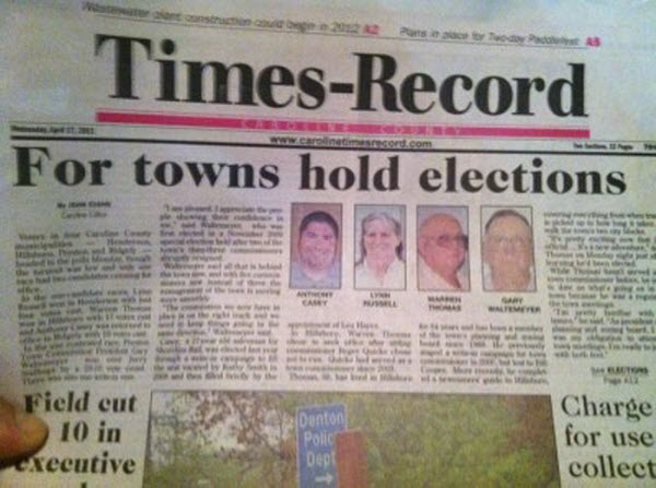 For towns hold elections