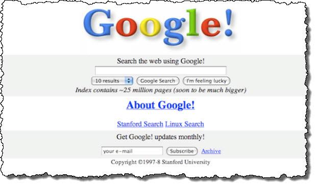 Google first screen