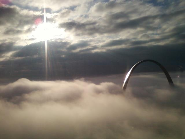 Arch above the clouds