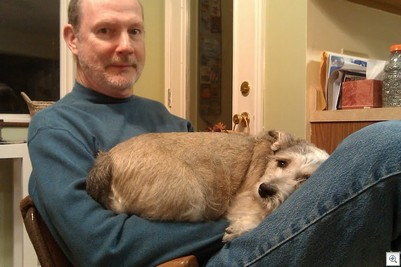 Trixie on lap