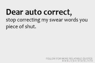 Dear auto correcy