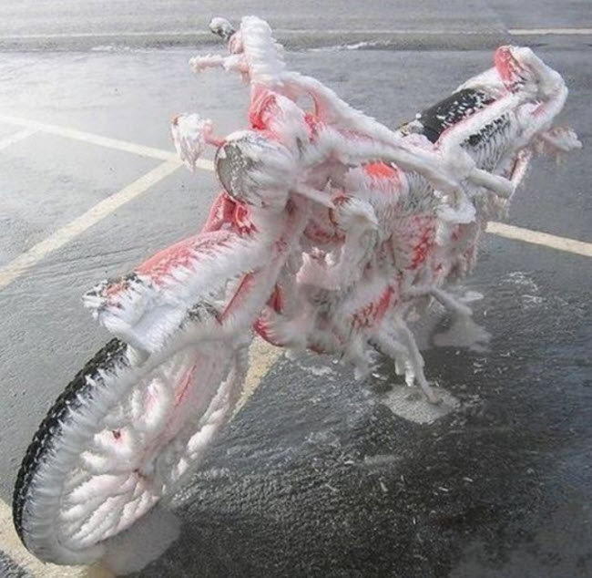 Icy motorcycle