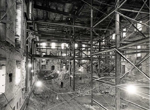 the sub basement inside the nearly demolished white house 1950