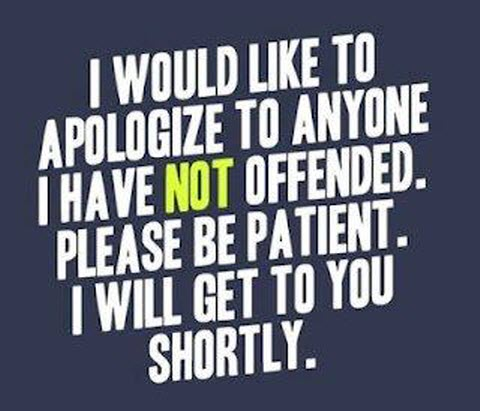 Apology offensive
