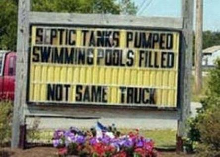 Septic tank sign