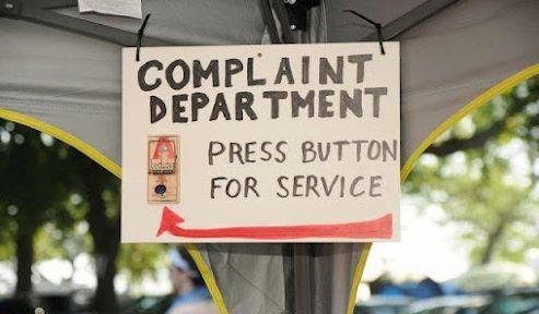 Complaint dept