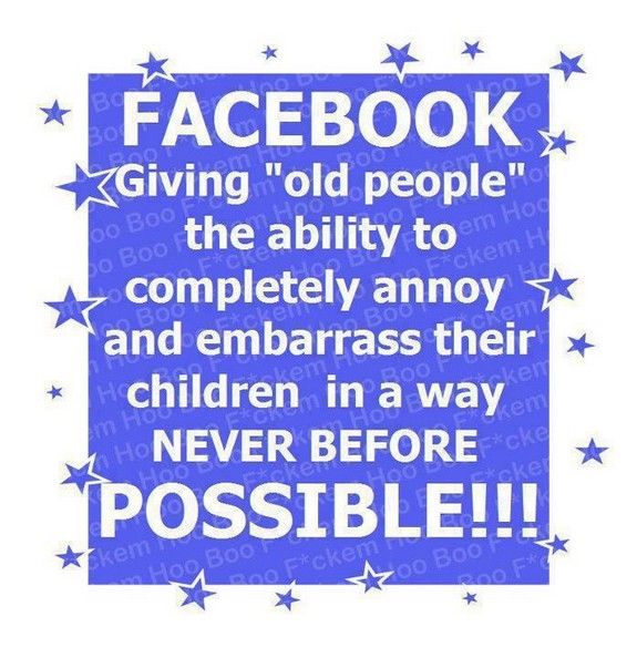 Facebook annoy your kids