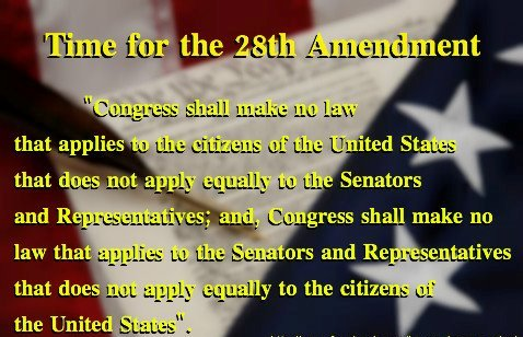 Time for 28th amendment
