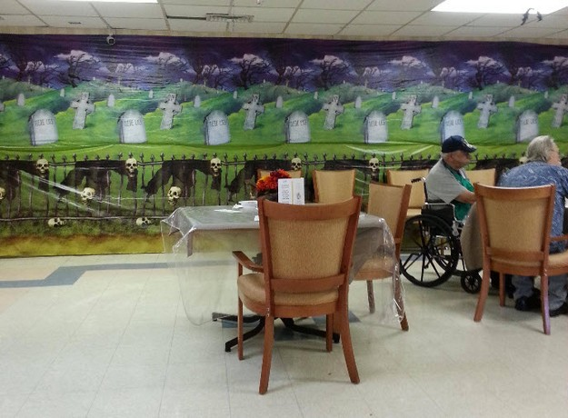 halloween decor at the nursing home bits and pieces