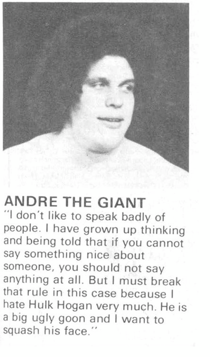 Andre the giant quote