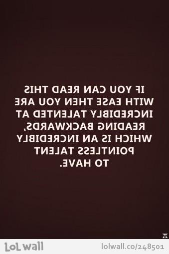 If u can read this4