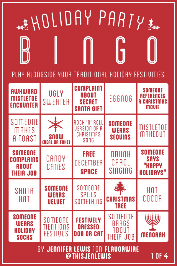 pin christmas bingo cards word list on pinterest