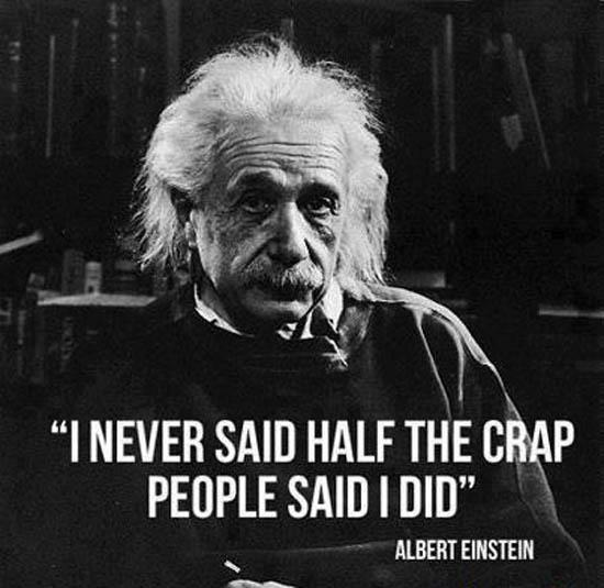 Never said that