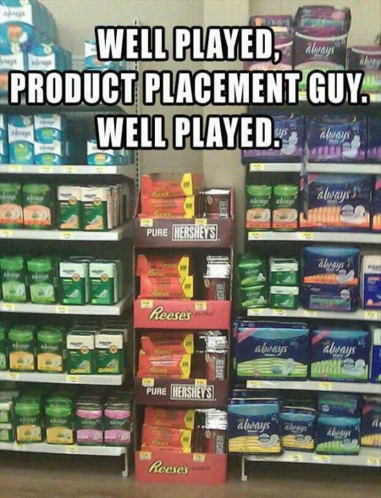 Well played product placement guy
