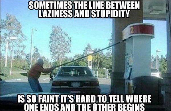 Laziness and stupidity